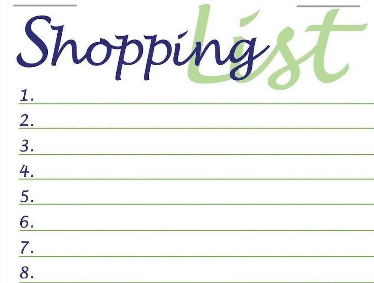 шоппинг лист