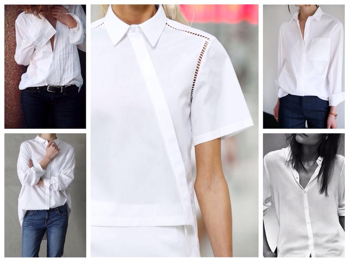 Эффектные образы с белой рубашкой