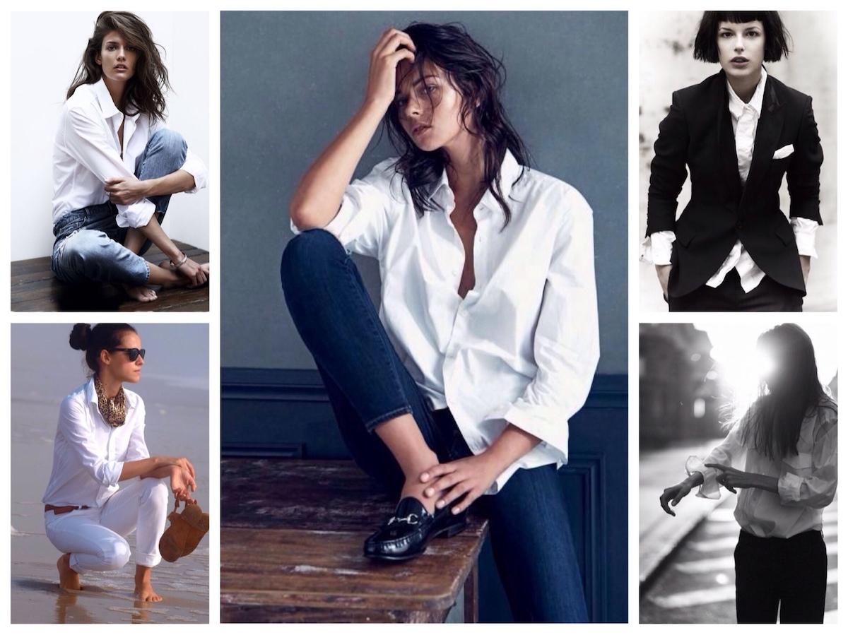 Всегда модная белая рубашка
