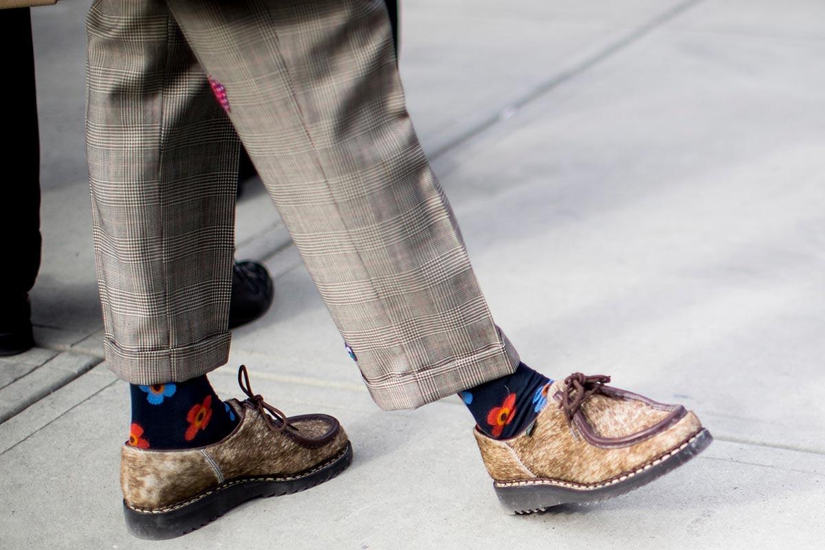 Яркие мужские носки